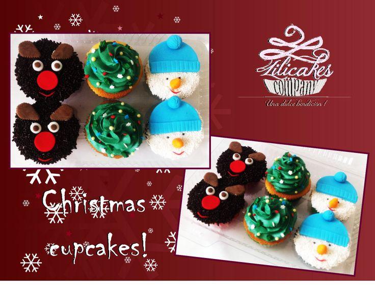 Christmas cupcake !