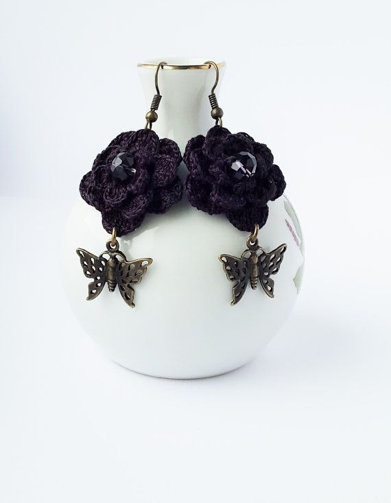 Unique Handmade Jewelry with Crystal Crochet by CatanaHandmade