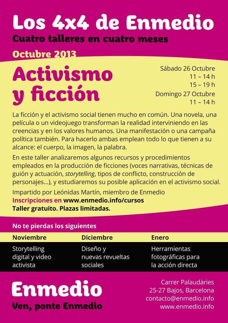 Los talleres 4x4 de Enmedio: Activismo y Ficción