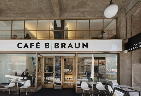 Cafe - B Braun,Prague, interior design by Eva Jiřičná