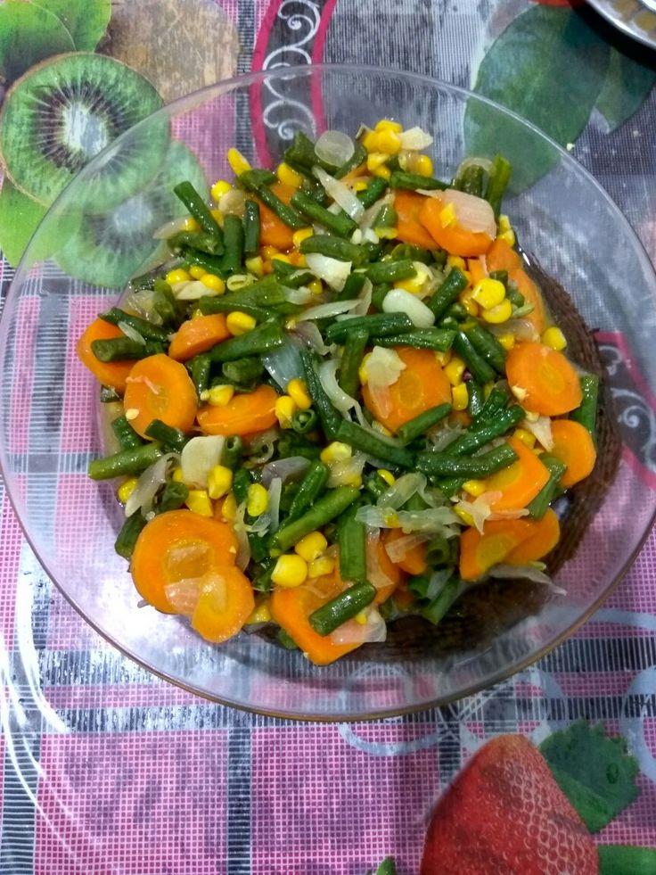 Sayur wortel + kacang panjang
