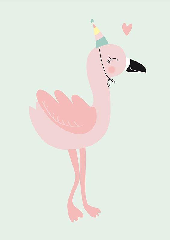 Mimirella | Poster Flamingo