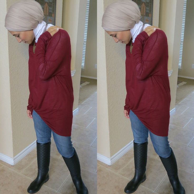 Rainy day hijab outfit