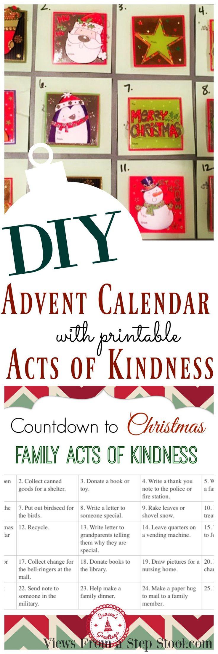 Diy Kindness Calendar : Unique homemade advent calendars ideas on pinterest