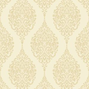 Home of Colour Damask Stripe Wallpaper - Cream