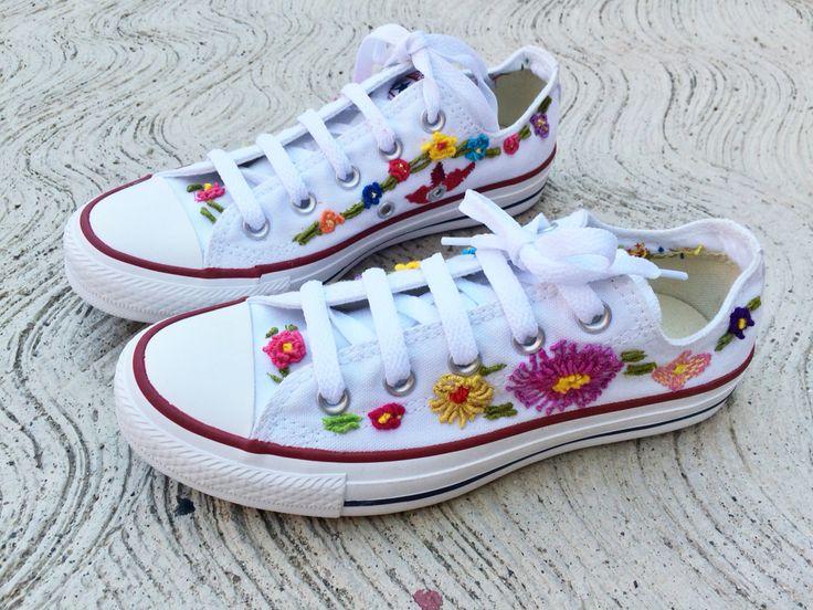Converse bordados a mano #converse #embroidery
