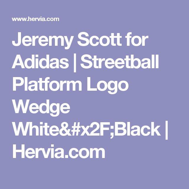 Jeremy Scott for Adidas | Streetball Platform Logo Wedge White/Black | Hervia.com