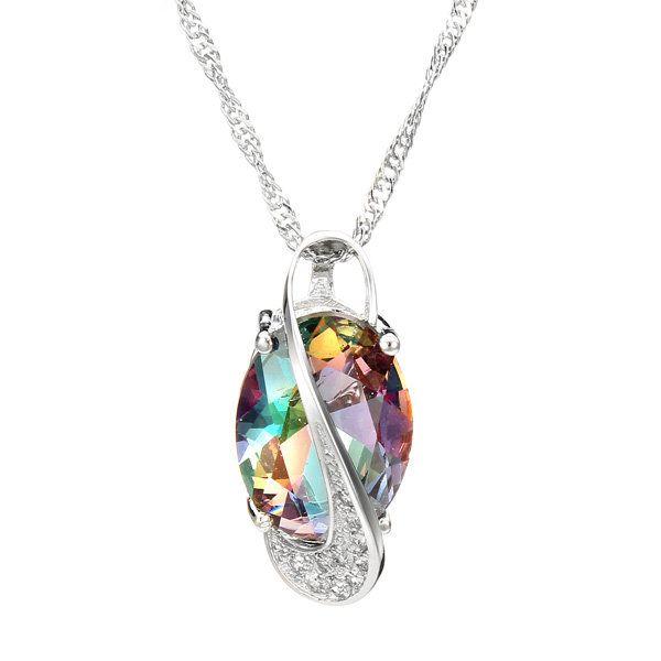 Colorful Crystal Gemstone Oval Shape Jewelry Set