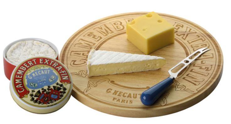 Camembert Timber / Wooden 35cm Round Cheese Board / Platter