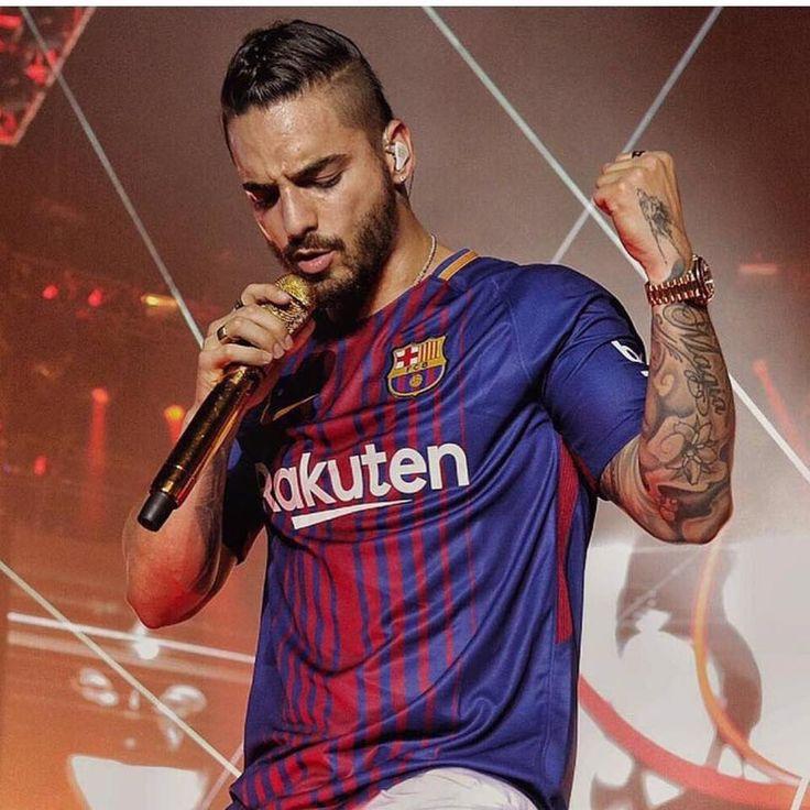 Maluma this FC Barcelona T-shirt