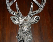 Mirrored, Mosaic Deer Head Mount