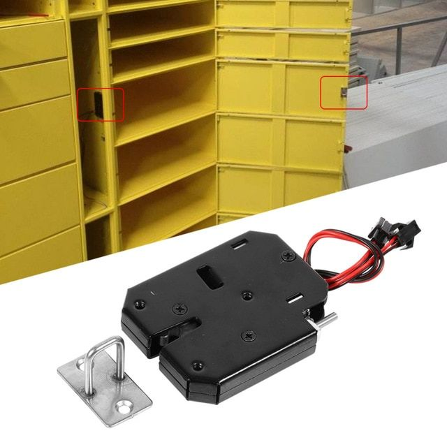 Dc 12v 2a Electromagnetic Electric Control Cabinet Drawer Lockers Lock Latch Steel Pudsh Push Design Automatic Open Cabinet Drawers Door Hardware Locker Locks
