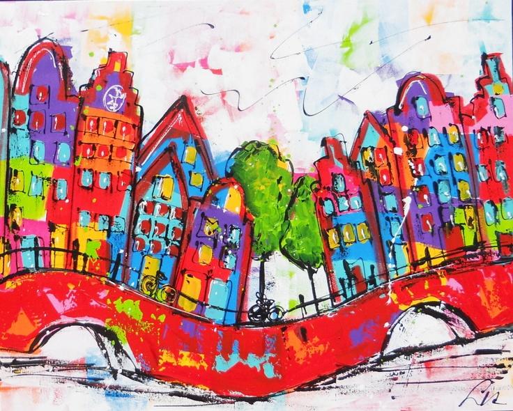 Grachtenpanden Amsterdam - Liz (Renate Rolefes & Corrie Leushuis)