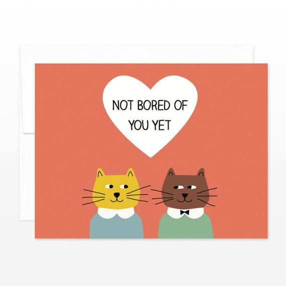 Funny Relationship Cats Valentine S Day Card Love Etsy Cat Valentine Cards Anniversary Cards
