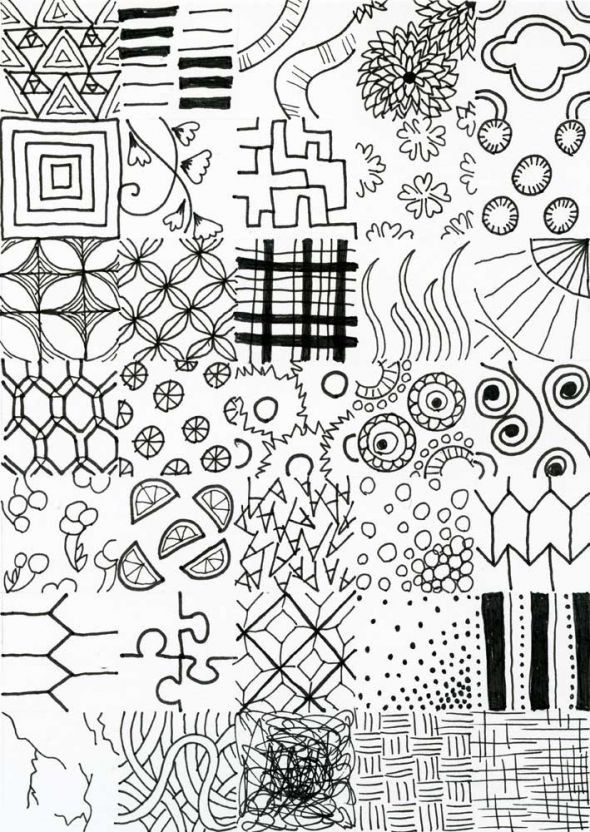 Line Drawing Ideas : Some line textures to give you more pattern ideas