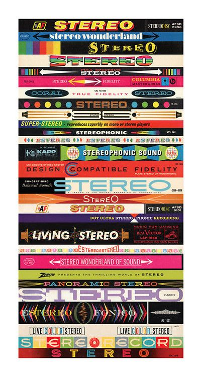 Vintage Stereo Labels