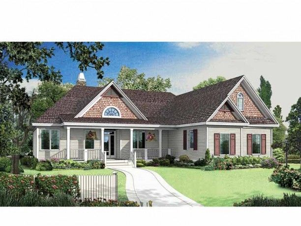 Craftsman cottage master down 1800 sq ft bonus room for Craftsman house plans with side entry garage