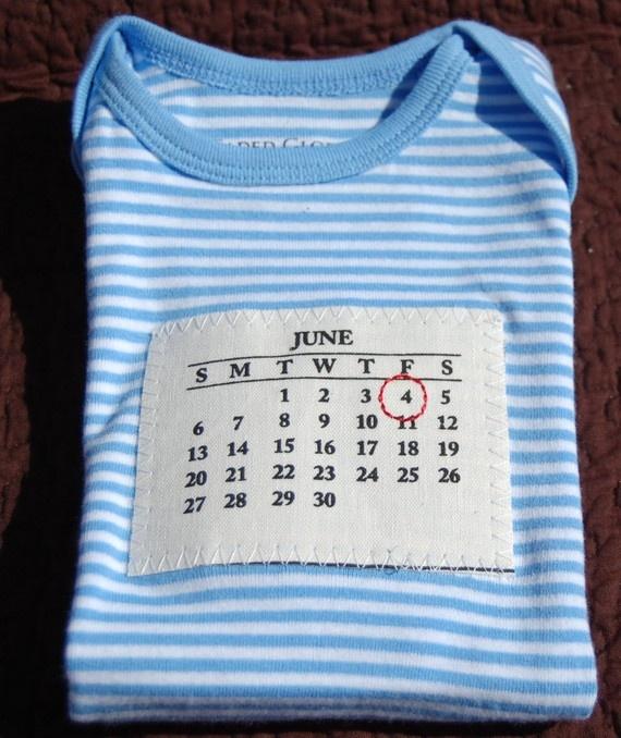 Birthday Calendar Onesie