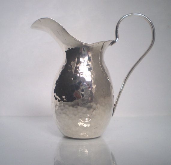 Sterling Silver 925 Miniature Pitcher Hammered by SilverArtGifts