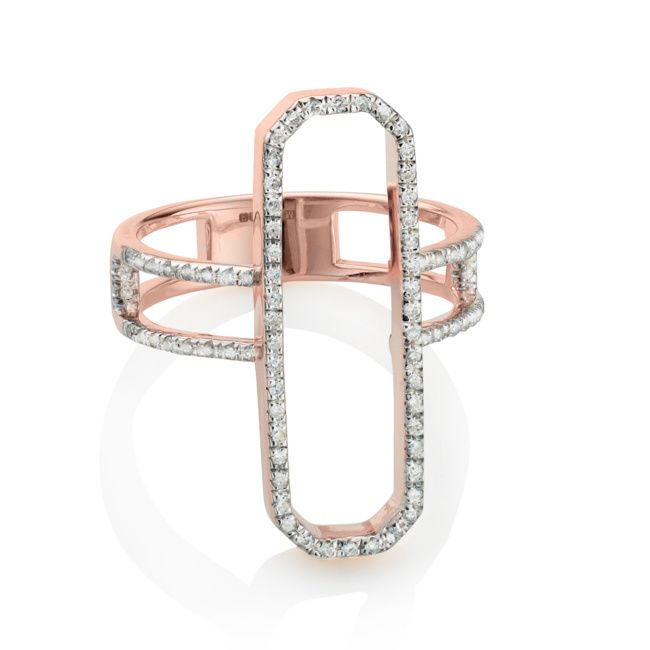 Rose Gold Vermeil Naida Cocktail Ring with Diamonds http://bit.ly/1H5gbQ0