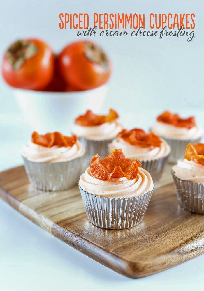 Spiced Persimmon Cupcakes with Cream Cheese Frosting - Love Swah