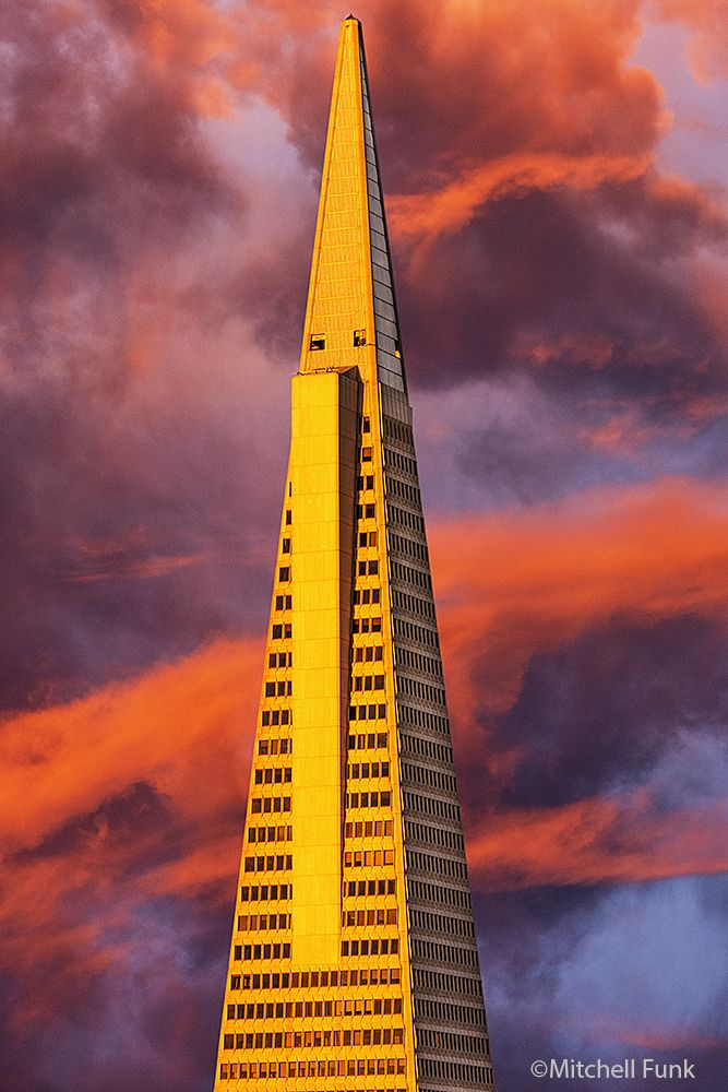 San Francisco Map Richmond District%0A Transamerica Pyramid At Sunset   San Francisco mitchellfunk com