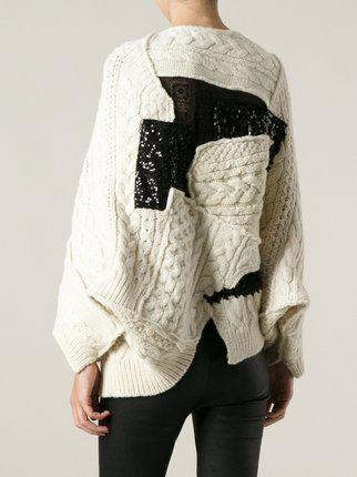 Junya Watanabe Comme Des Garçons patchwork sweater