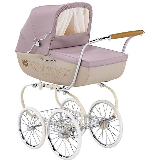 vintage inspired baby stroller I can totally see you strolling through the streets of Portland with this stroller!