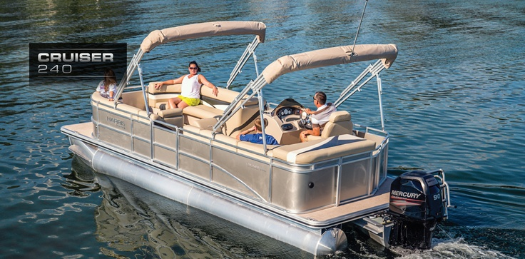 Cruiser 240: Harris FloteBote | Premier Deck Boats for Sale | Party Boats : 2013