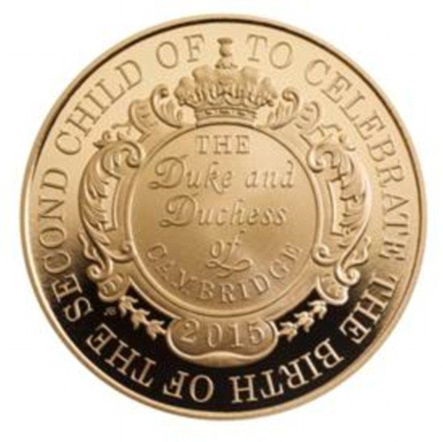 A limited edition £5 coin has been created by The Royal mint to mark the birth of the new ...