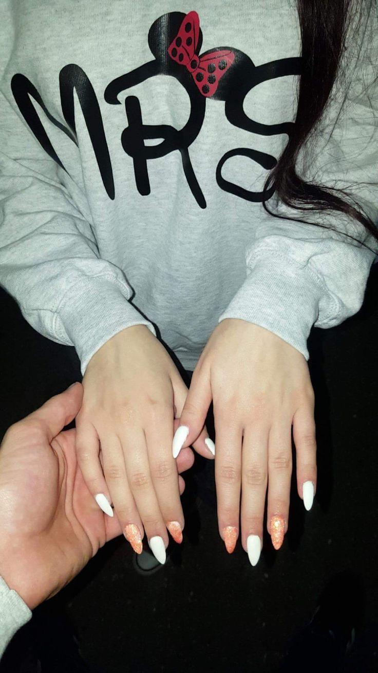 moje paznokcie, lakiery semilac, przedłużone hardi milk :3 #semilac#mynails#diy#beautifulnails#001stronwhite#semilac001#gitter#minniemouse#mrs
