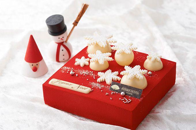 マンダリン オリエンタル 東京の直営パティスリー「グルメショップ by マンダリン オリエンタル 東京」からは、鮮やかな赤色が大きなインパクトを与える「フロコン・ド・ネージュ」が登場。