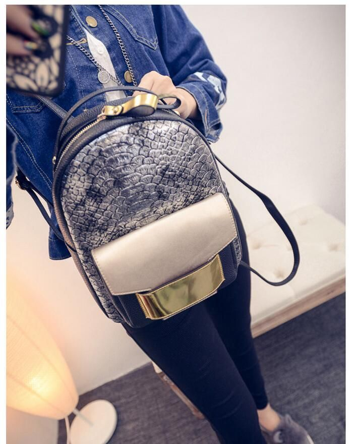Snake Leather Women Backpack 2017 Summer Fashion Rucksack Back Bag New Arrival #SnakeLeatherChina #Backpack