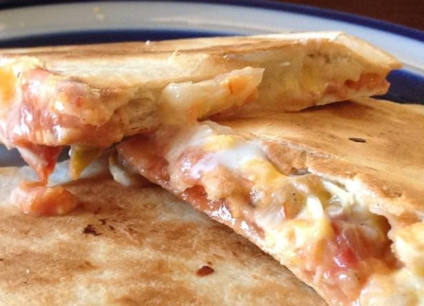 Creamy Ranch Chicken & Pineapple Quesadillas. Photo by PeachyLia