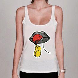 Débardeur Femme Mickey Bouche dipso sur www.a-tshop.com   http://a-tshop.com/debardeur/136-debardeur-femme-mickey-bouche.html