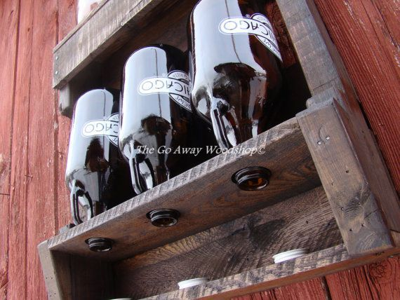 Growler Drying Rack Recycled Pallet Pallets Drying