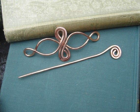 Celtico infinito loop rame scialle perno di nicholasandfelice