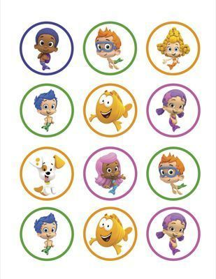 Bubble Guppies DIY Printables Cupcake Toppers Decorations Favor Tags