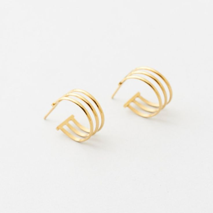 Athena Earrings - Gold Plate