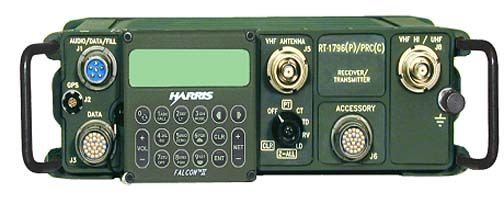 Harris Corporation FALCON II AN/PRC-117F(C) --- Up to 20 watts on internal battery.  Good for a Go-Bag if you can find one!