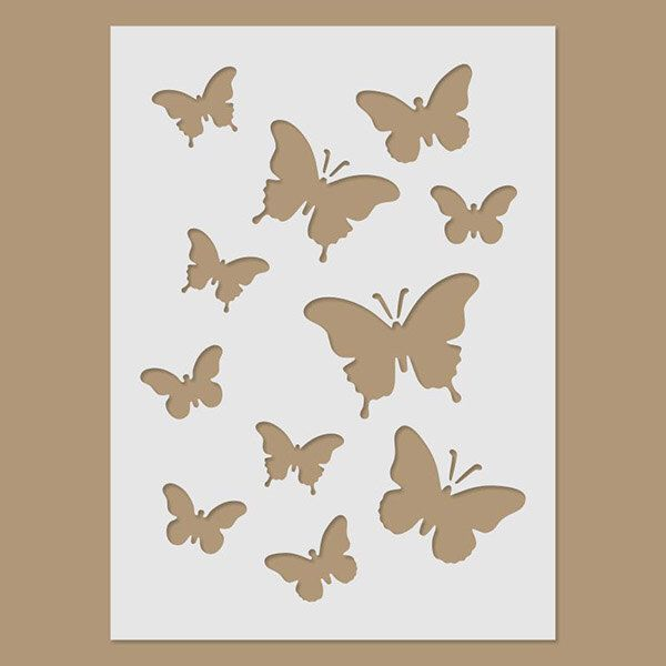 Butterflies Stencil by StencilDirect on Etsy https://www.etsy.com/listing/233143916/butterflies-stencil