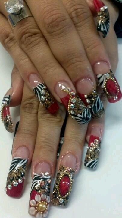 25 trending sinaloa nails ideas on pinterest bling nail for 3d nail art salon new jersey
