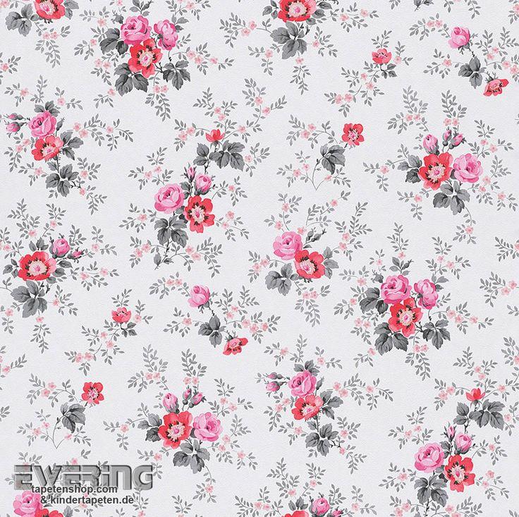 37 besten petite fleur tapeten im landhaus chic von rasch textil bilder auf pinterest borte. Black Bedroom Furniture Sets. Home Design Ideas