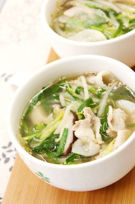 ダイエットや夜食に中華風食べるスープ by あぽももこ [クックパッド ...
