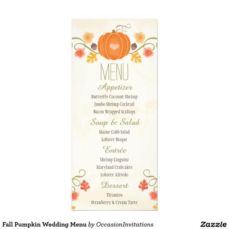 Fall Wedding Buffet Menu Ideas: Best 25+ Fall Wedding Menu Ideas On Pinterest
