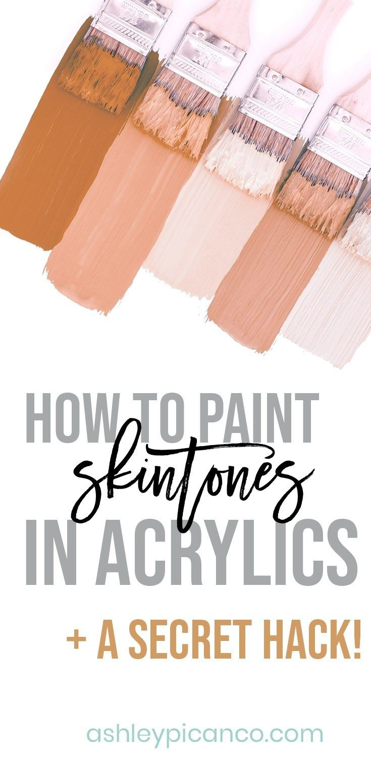 How To Mix Skin Tones In Acrylics Shows Easy Way To Make Skin Colors With Ac Acrylic Portrait Painting Colorful Paintings Acrylic Acrylic Painting Techniques