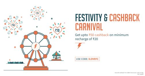 Freecharge  Get upto 250% cashback on Prepaid mobile recharge of Minimum Rs.20