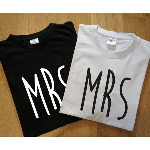 Mrs and Mrs Newlywed T-Shirts – Gift Birdie Gay, Lesbian, Same Sex, Wedding, Civil Partnership