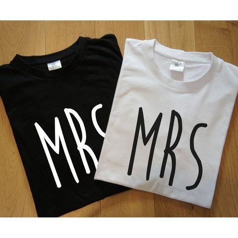 Mrs and Mrs Newlywed T-Shirts – Gift Birdie Gay, Lesbian, Same Sex, Wedding, Civil Partnership