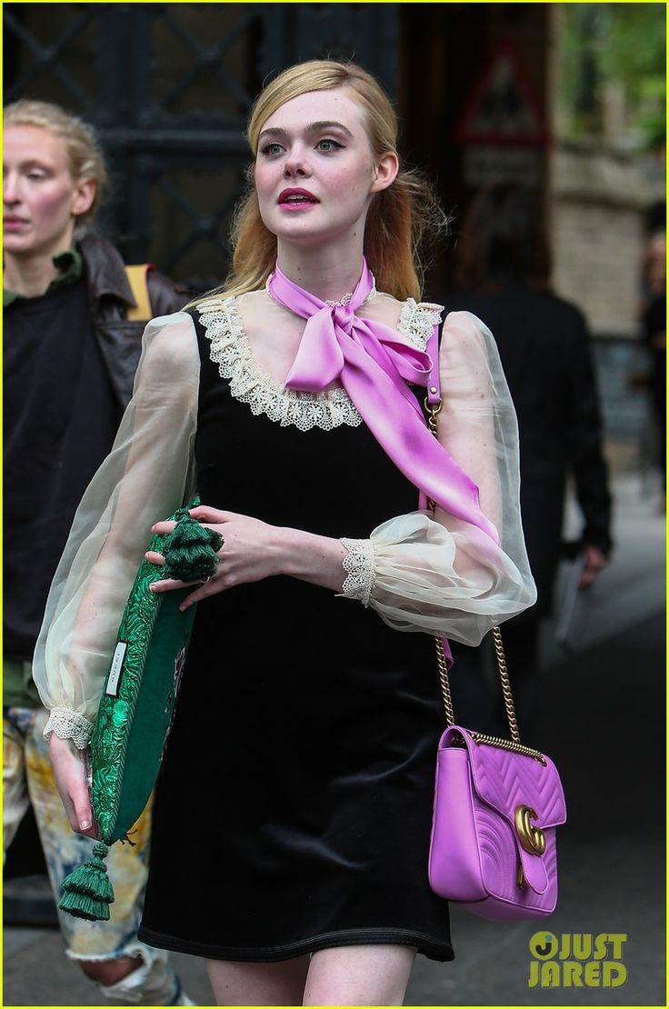 Elle Fanning Sits Front Row at Gucci Cruise Show in London